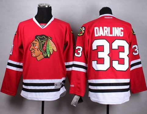 Chicago Blackhawks #33 Scott Darling Red Jersey · Chicago  BlackhawksBlackhawks JerseysNhl ...
