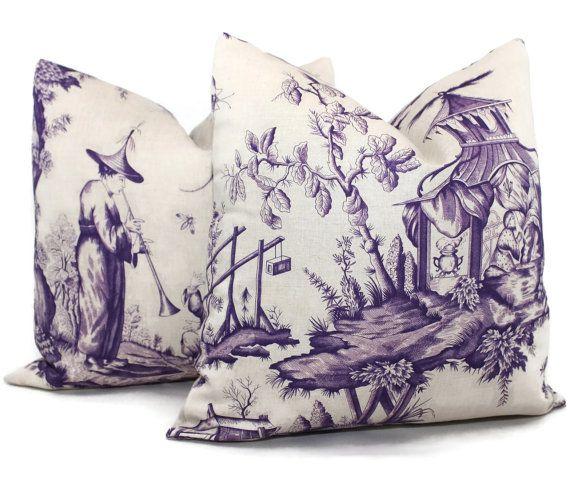 iris shengyou toile decorative pillow cover 18x18 20x20 22x22 24x24 eurosham or