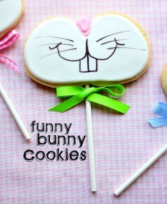 Funny bunny cookies...so stinkin cute!