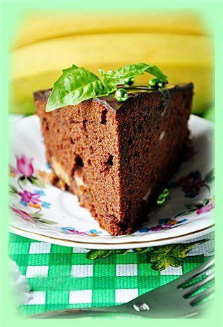 Шоколадно-банановый кекс с базиликом : Простые рецепты для вкусной жизни