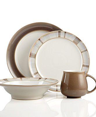 Denby Dinnerware, Truffle 4-Piece Place Setting - Casual Dinnerware - Dining & Entertaining - Macy's