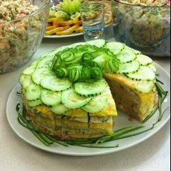 Рецепт: Закусочный салат с курицей и грибами - все рецепты России