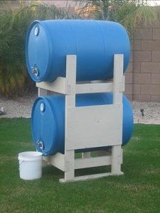 Water Barrel Stand Plans (for 55 gallon drums) - Saves Space for More Stuff!