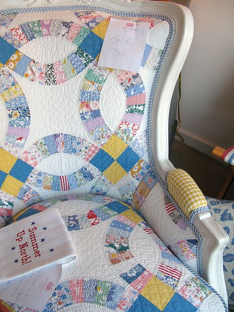 Quilt upholstered chair D | Flickr - Photo Sharing!