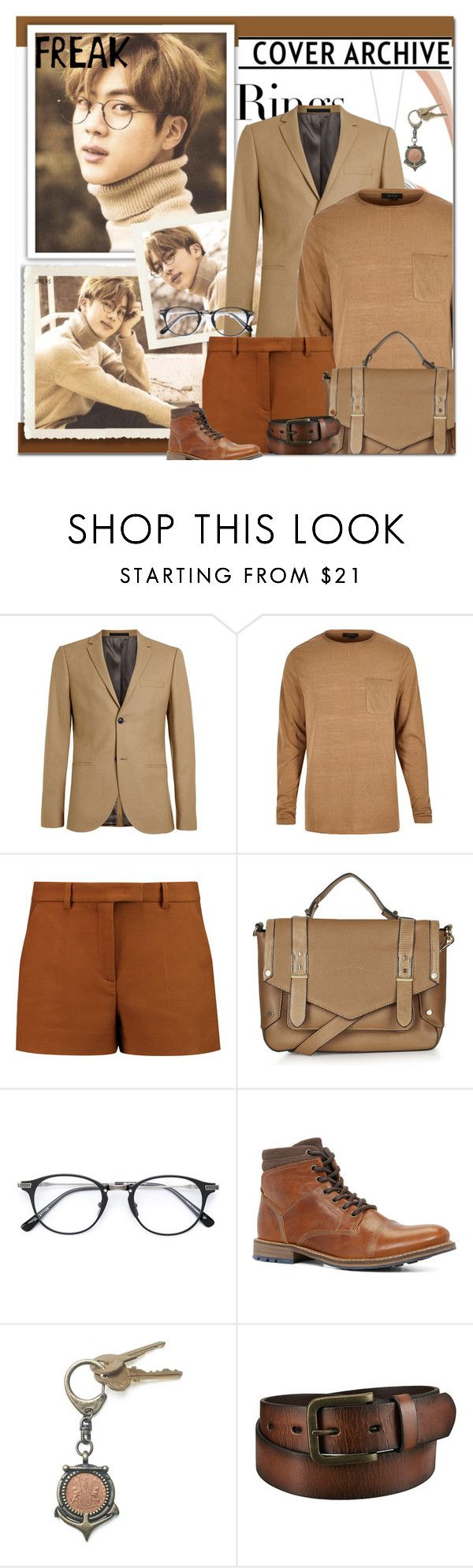 """Jin"" by lisannevicious ❤ liked on Polyvore featuring Tiffany & Co., Topman, Emilio Pucci, Topshop, ALDO, American Coin Treasures, Uniqlo, men's fashion and menswear"