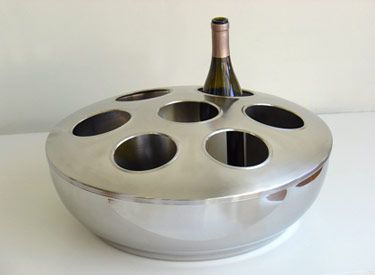 stainless steel wine bottle chiller  These would be good for wine-tastings..or just plain party fun..  cspost.com