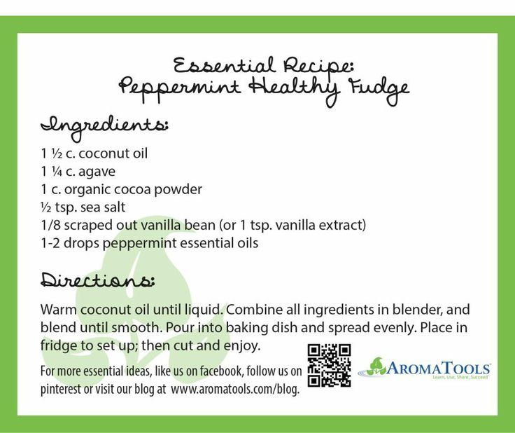 Great Handout for Essential Oil classes: Recipes using essential oils: Peppermint Fudge, Uplifting Air Sprays, Spring Linen Spritzers & Honey Hummus in Thyme