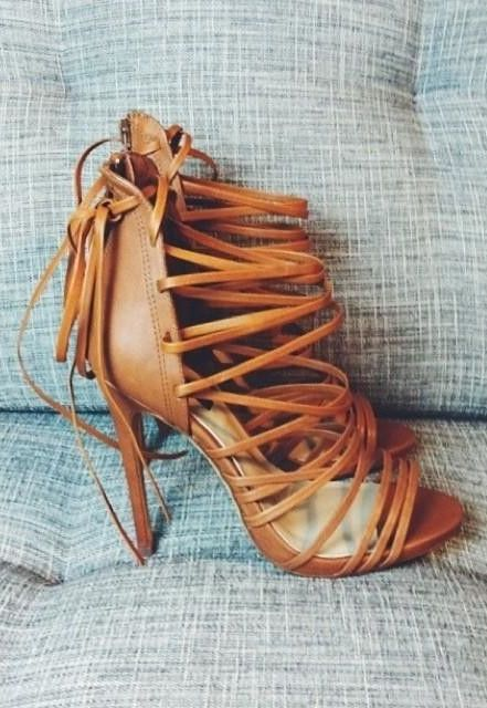 Love these strappy heels