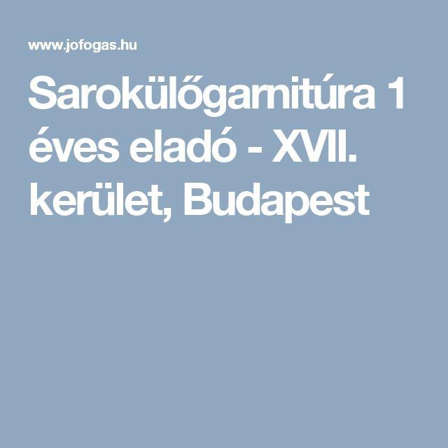 Sarokülőgarnitúra 1 éves eladó - XVII. kerület, Budapest