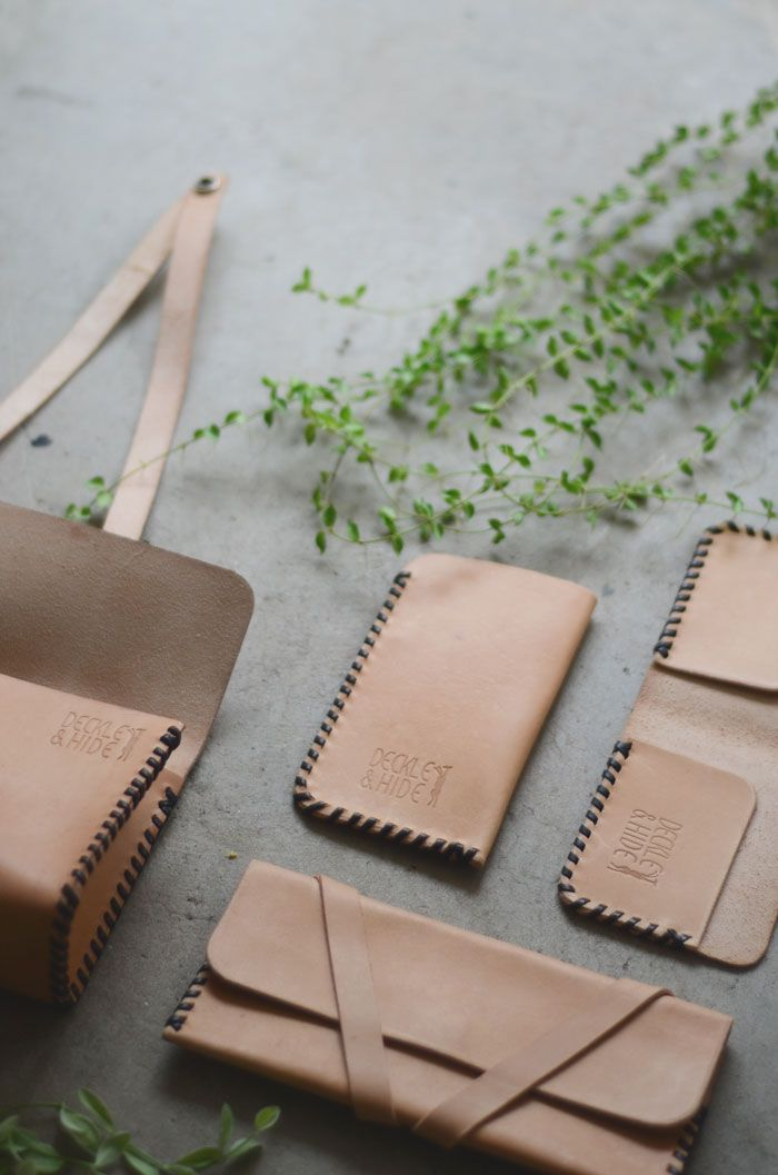 Bloesem Living | Deckle and Hide Leather goods and candles
