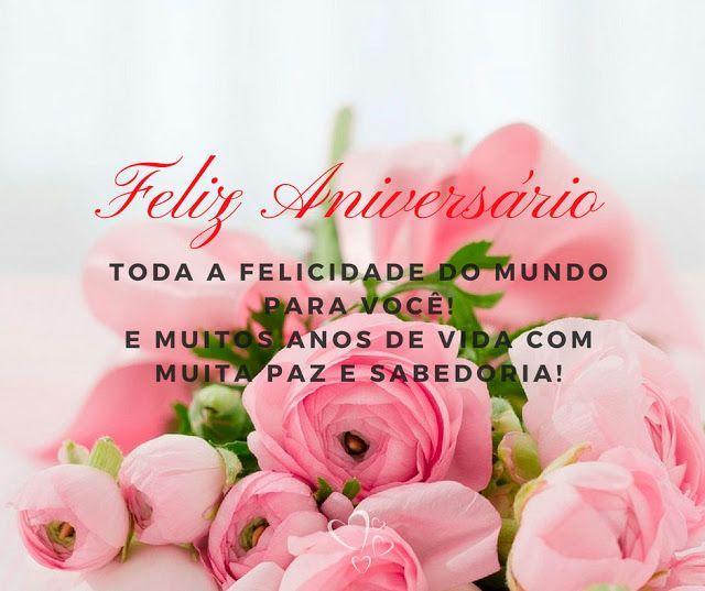 Feliz aniversário. toda a felicidade do mundo para você!