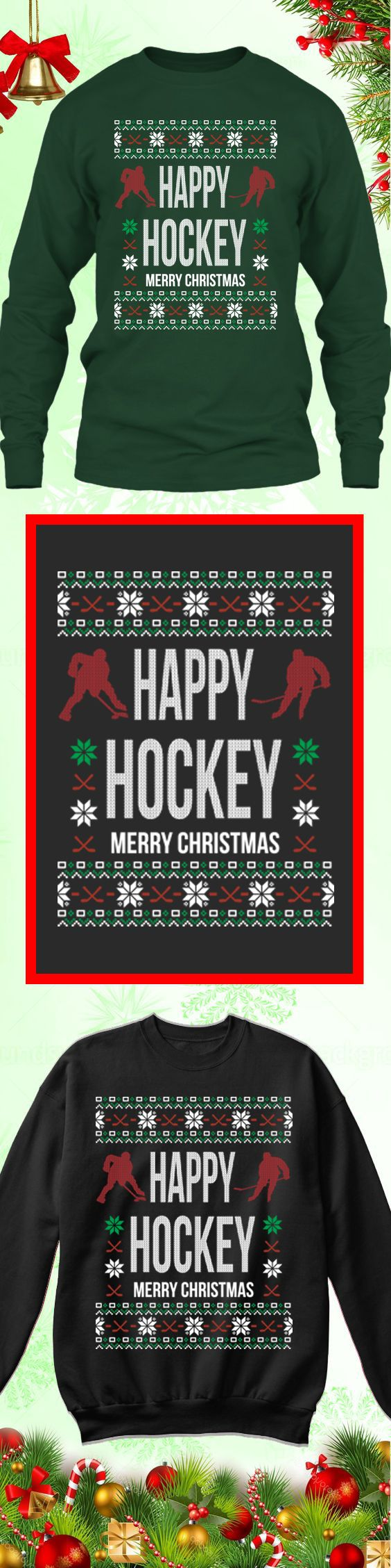 Need a last minute Christmas Gift? Get this limited edition Hockey Ugly Ugly Christmas Sweater while supplies last! Buy 2 or more, save on shipping!