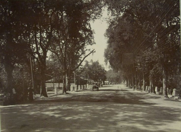 De Simpangsche Weg in Soerabaia 1880-1900.