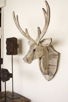 The Recycled Wooden Deer Head Wall Hangingwill give an eye-catching look…