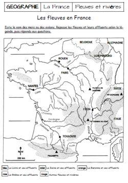 LA FRANCE : FLEUVES ET RIVIERES