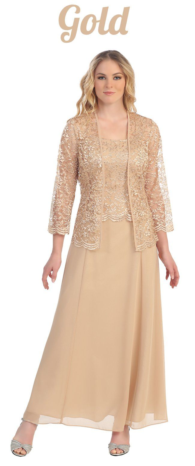 Cachet lace chiffon bolero jacket dress