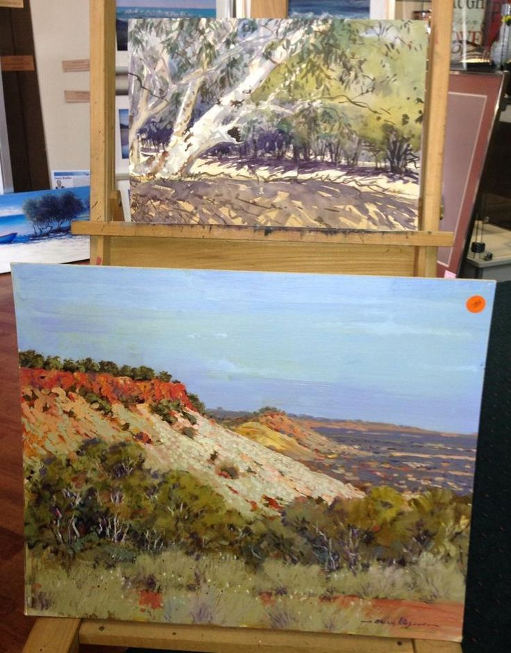 'Carisbrooke Gums' Watercolour  'Late Afternoon Winton' Oil 2006  Painted in 'Opal Country' around Winton!  Brian Allison 1942- 2007 1998/2001 Pastelist of the year - Pastel Society of Australia 2003 The spirit of the outback Winton - Best of Show  2005 Sunshine Coast Art Show - 1st Watercolour