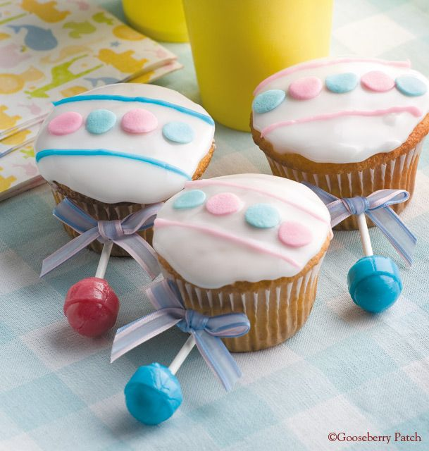 Rattle Cupcakes for a Baby Shower