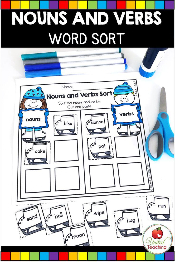 Noun And Verb Sort Nouns And Verbs Word Sort Activities Word Sorts [ 1100 x 736 Pixel ]