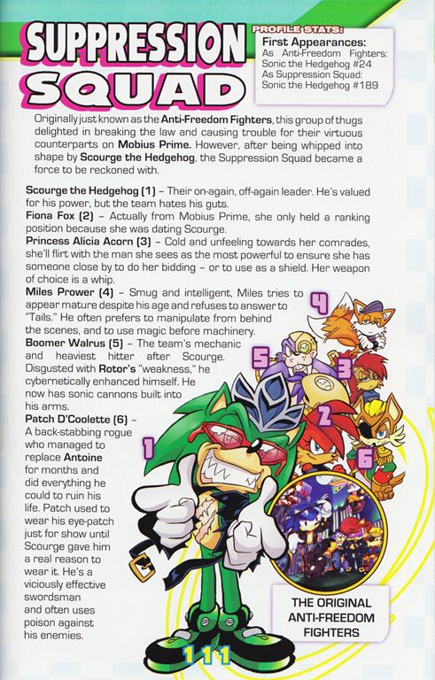 Here Are The Suppression Squad The Complete Archie Sonic