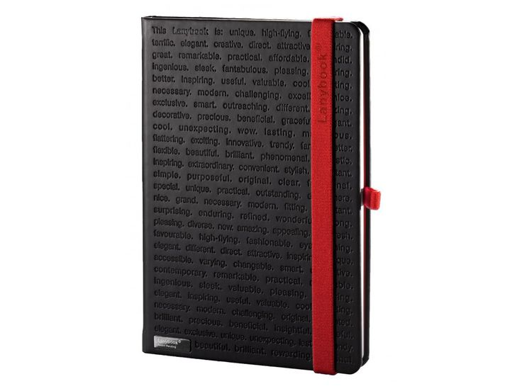 Velmi decentní poznámkový blok v černo-červeném provedení. Matný hladký povrch s efektní celoplošnou ražbou dodává zápisníku neuvěřitelný hmatový vjem.