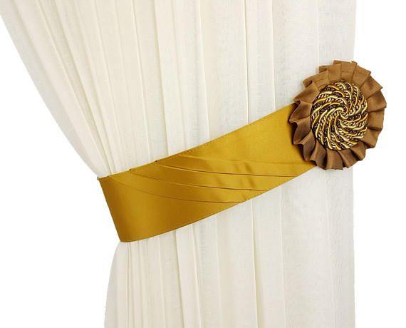 Tie backs classic, Curtain decor, Tie backs, Tiebacks brown, Rigid tiebacks, Curtain accessories, Curtain tiebacks, Tie backs medallion