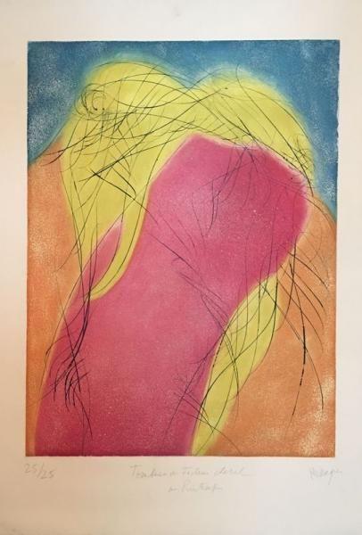 Jean Messagier «Tombeau du facteur cheval au printemps» Lithographie sur papier [...], Art Contemporain, Street Art à Vermot et Associés | Auction.fr
