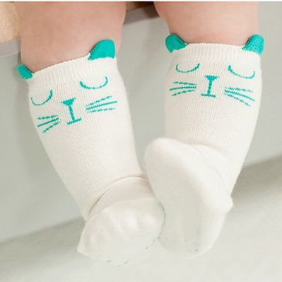 Pasgeboren peuter kniehoge sok baby boy bebe meisje vos sokken katoen leuke cartoon dier kat beenwarmers voor pasgeborenen infantiele in Lovely Candy color baby girl tights stocking for girls bebe newborns toddler infant ballet pantyhose solid velvet infant van sokken op AliExpress.com | Alibaba Groep