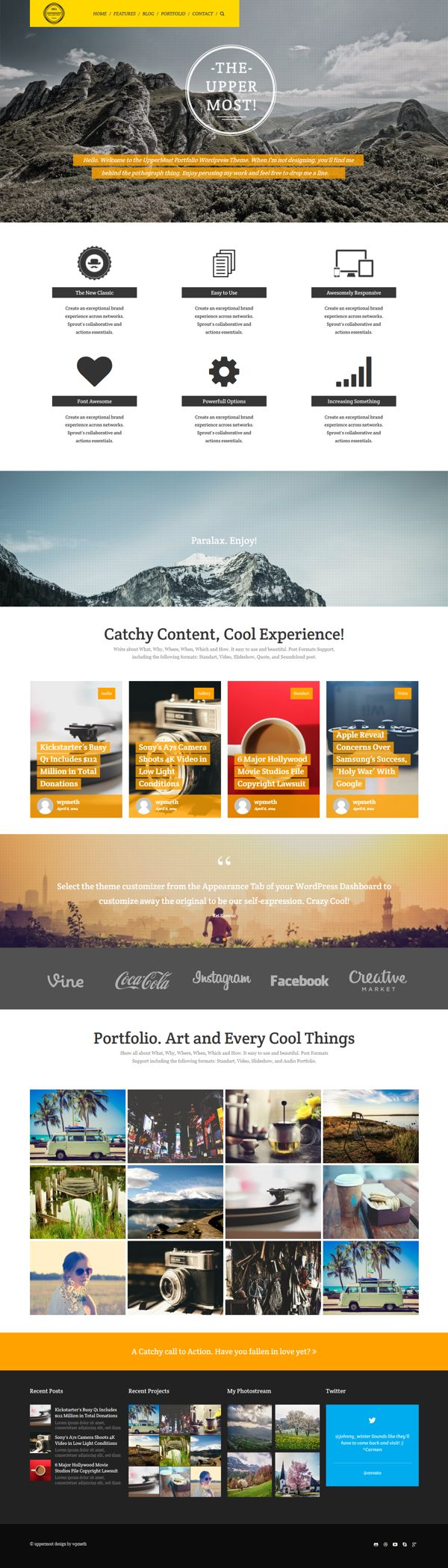 Bold Creative & Multipurpose WP Theme by Themes Awards, via Behance