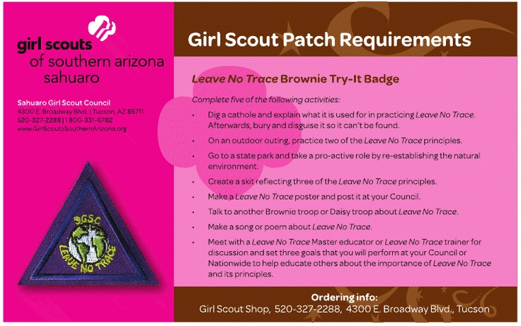 17 best images about girl scout brownies on pinterest for Leave no trace coloring page