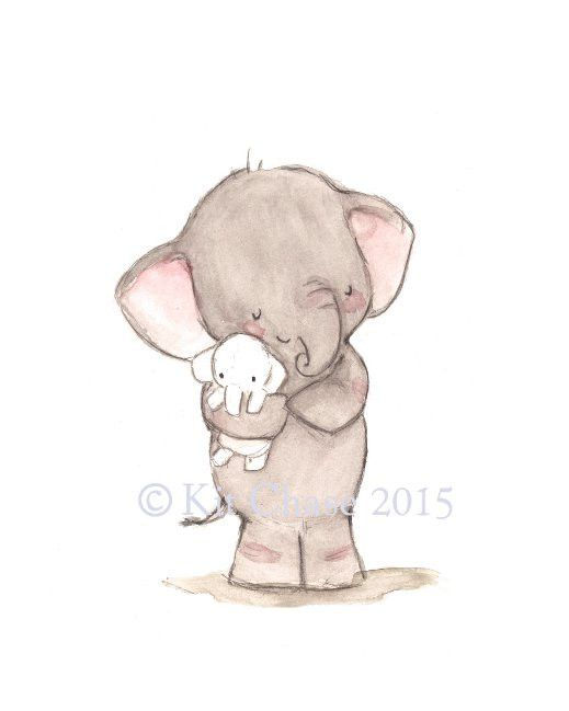 This sweet little elephant and his plush make quite the cuddlesome duo for a little one's nursery.art print from an original watercolor, gouache, and acrylic painting by Kit Chase.archival matte paper and inkvertical printships worldwide from the U.S.watermark will not appear on purchased print.This image is protected by copyright and is the property of Kit Chase and LullaLoo, LLC. Any reproduction, reselling, or distribution of this image without written consent is prohibited.