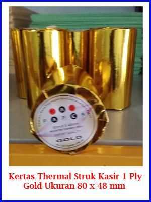 Kertas Struk Thermal atau Roll Paper Gold untuk mesin printer kasir ukuran 80x48mm murah