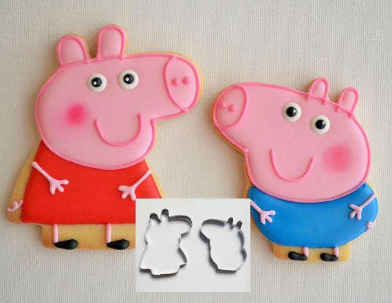 Set of 2 Peppa Pig Cookie Cutter Peppa and George by ArtSeaFartsy