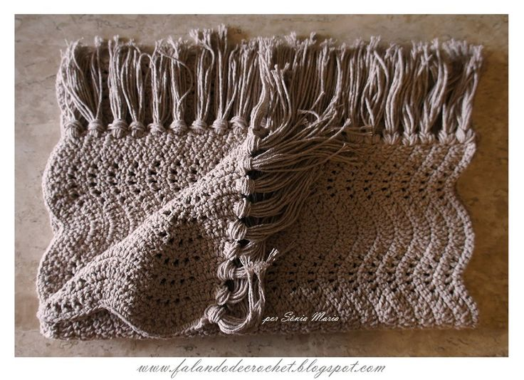 Falando De Crochet Tapete De Croche Ondas Sonia Maria