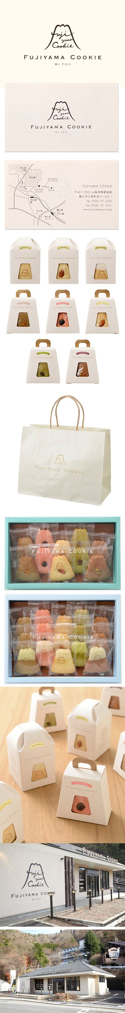 Fujiyama cookie #identity #packaging #branding