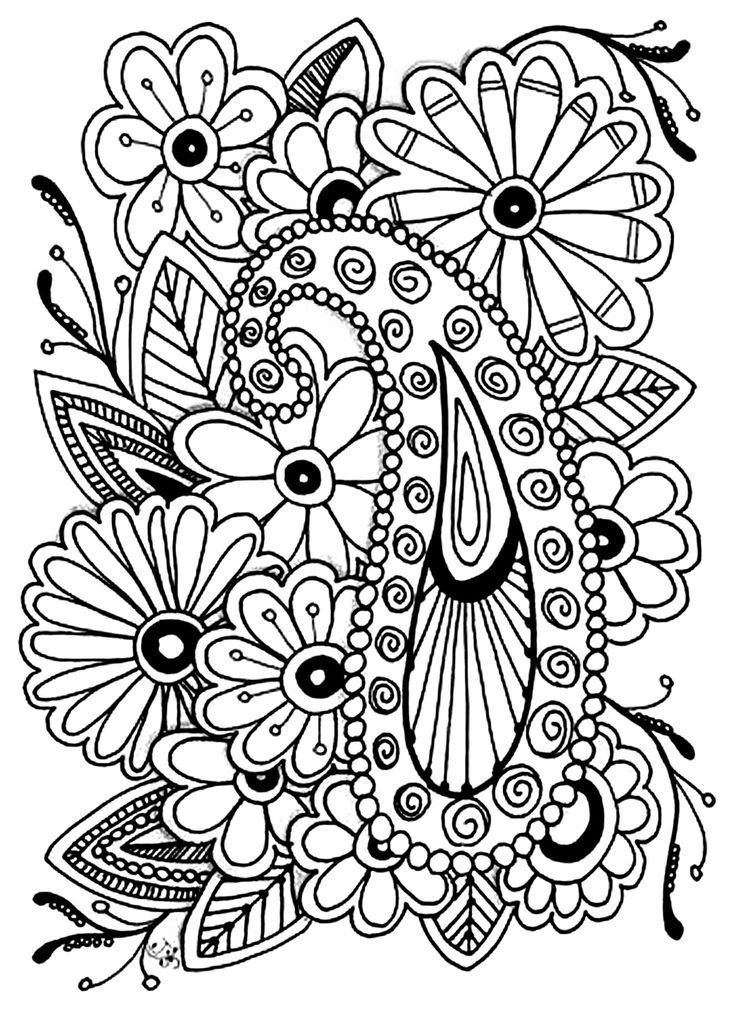 Galerie de coloriages gratuits coloriage-adulte-fleurs-paisley.