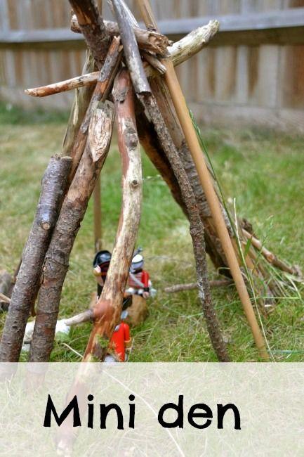 Mini den #outdoorplay #craftsforkids