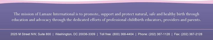 Lamaze International lamaze childbirth educator program Nov 19-20