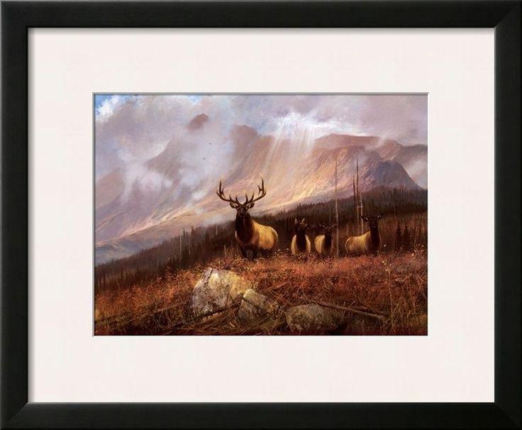Bookcliffs Elk II Framed Art Poster Print by Michael Coleman, 23x19  | eBay