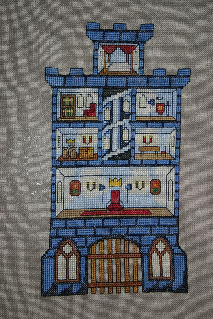 185 Best Images About Dollhouses In Cross Stitch On