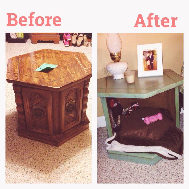 Delightful End Table Turned Dog Bed! DIY.
