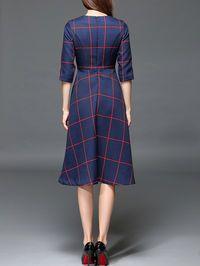 Pockets Color Block Midi Dress, $72.99