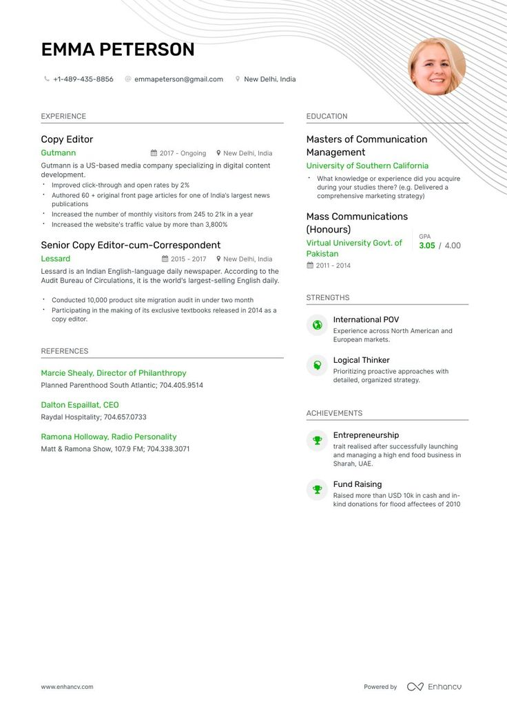 Copy Editor Resume Example and guide for 2019 Resume
