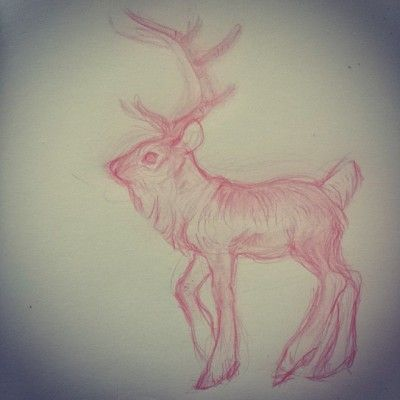 Decided to do another request from my request post. Reindeer for @mxrshmellow :)
