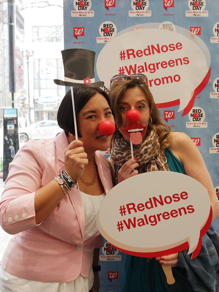 Red Nose Selfie Station! Get your own nose at @walgreens #RedNose #Walgreens #Promo #RedNoseClub