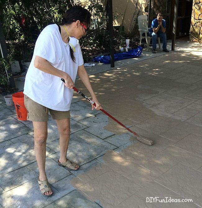 DIY STAMPED CONCRETE TILE TUTORIAL | Diy stamped concrete ...