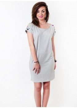 CASHMERE Grey Dress with Crystals.
