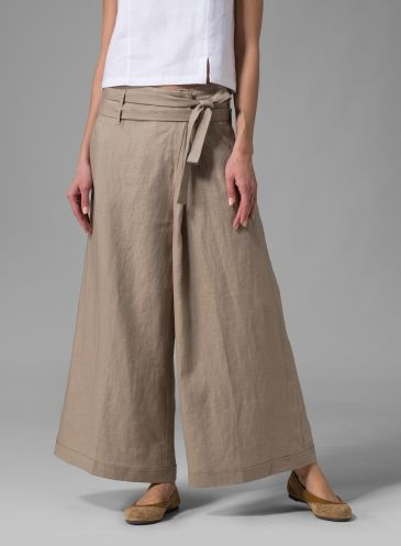 Wide Legged Linen Pants | ทรงกางเกง | Pinterest