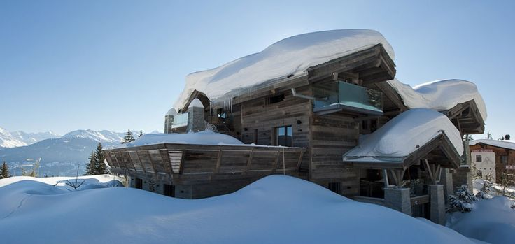 THE PROPERTY This stunning 12 bedroom luxury chalet, which fuses oriental design with the spirit of the mountains, is located in the hamlet of Plan Mayens, in Crans Montana – one of the most exclusive resorts in the Alps.  www.ikh.villas