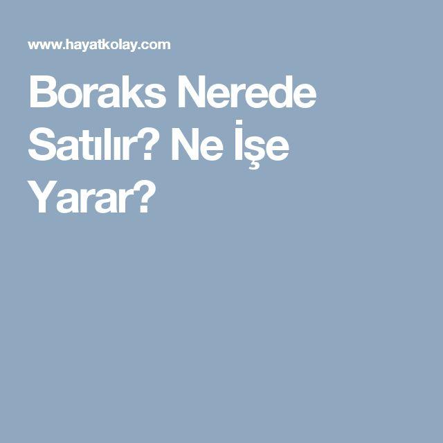 Boraks Nerede Satılır? Ne İşe Yarar?